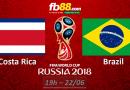 BẢNG E – FIFA WORLD CUP 2018 : Nhận định Brazil vs Costa Rica vào lúc 19h ngày 22/06