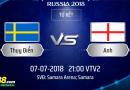 VÒNG TỨ KẾT – FIFA WORLD CUP 2018 : Nhận định Thụy Điển vs Anh vào lúc 21h ngày 07/07