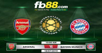 Soi Kèo Arsenal Vs Bayern Munich 10h00 Ngày 18-07 Giao Hữu ICC 2019