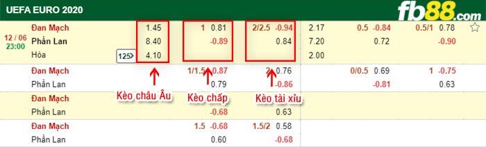 fb88 keo chap Dan Mach vs Phan Lan 12-06-2021