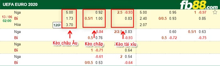 fb88 keo chap Nga vs Bi 13-06-2021